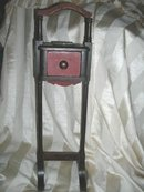 Antique Wooden Ashtray Smoking Stand w/Humidor