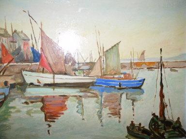 Vintage Original Sail Boat Painting