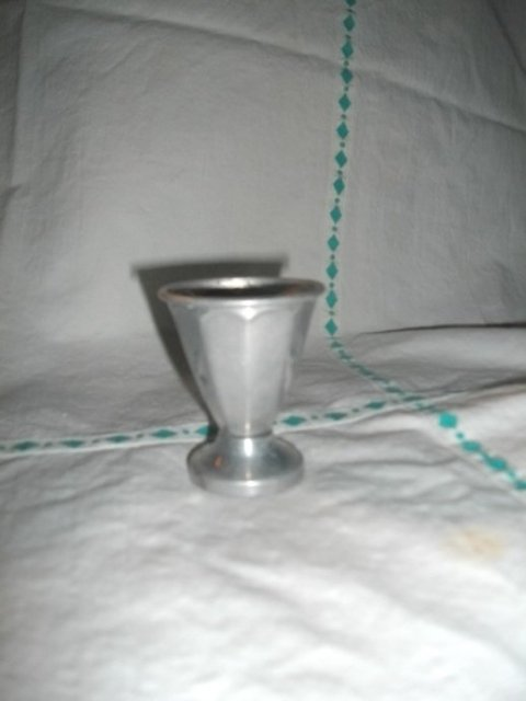 Vintage Aluminum Shot Glass
