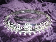 Vintage Crystal W/ Sterling Silver Overlay Dish