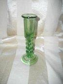 Vintage Hand Blown Green Glass Candleholder