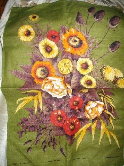 Vintage  Lamont Linen Kitchen Towel