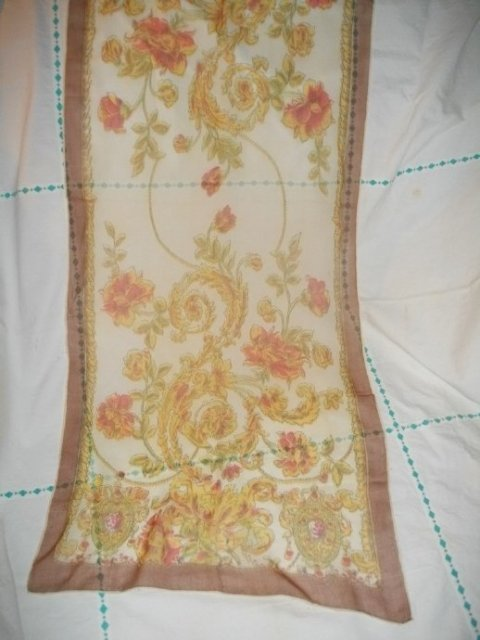 Vintage Hand Rolled Silk Hanky