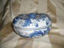 Oriental Porcelain Dish w/Cover