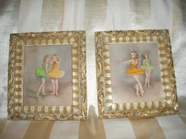Vintage Ballerina's Prints  ** Pair