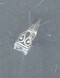 Vintage  Sterling Silver Ring w/Large Stone