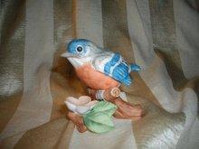 Vintage Lefton Baby Robin Porcelain Bird
