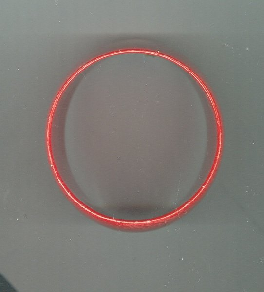 Vintage Wide Red Plastic Bangle Bracelet