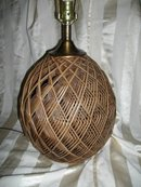 Vintage Woven Basket Table Lamp