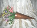 Vintage Metal Cone Shaped Vase &/or  Container