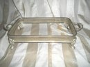 Vintage Silverplate Rectangular Casserole Dish Holder