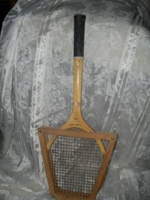 Vintage Wilson Cliff Richey Wooden Tennis Racket