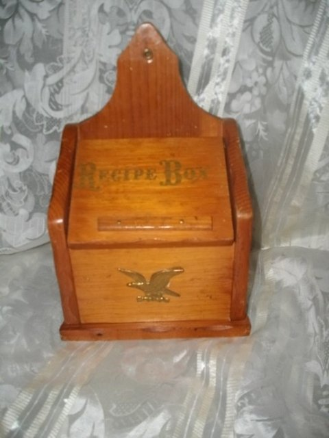 Vintage Wood Recipe Box