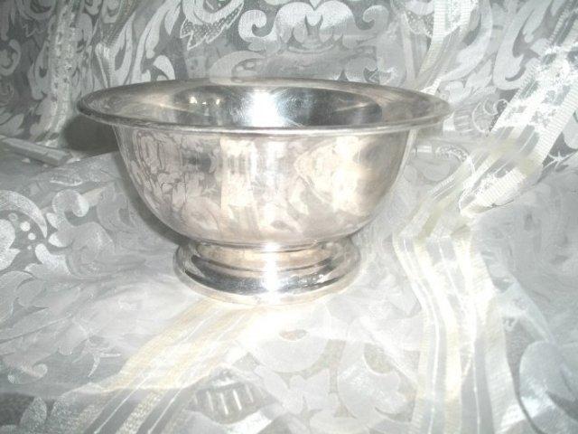 Vintage  Poole Silver Bowl