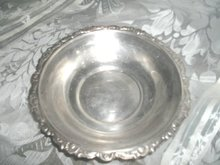 Vintage  Silver Bowl w/Ornate Border