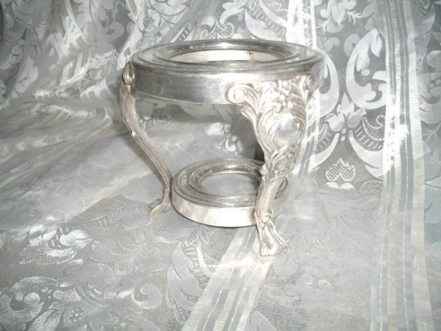 Vintage Silver  Burner  for Glass Coffee Pot