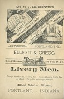 Vintage Ad for Barber Shop & Bath Rooms **& Livery Men