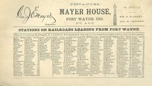 Vintage Advertising Ad for Railroad Stations Distance Chart