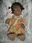 Vintage Hand Made African American Baby Doll