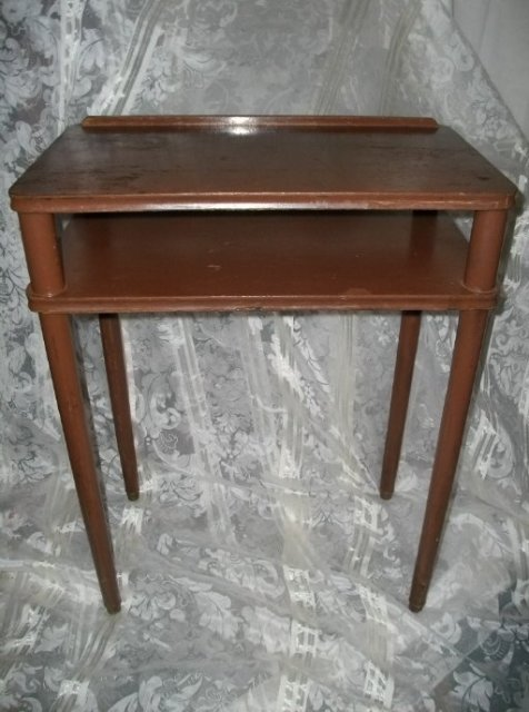 Vintage Wood Writing Table Desk