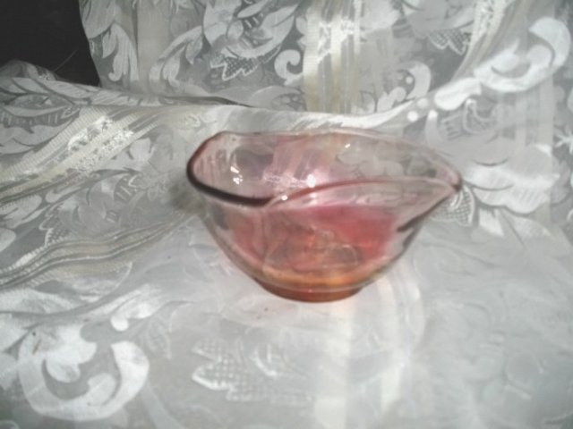 Vintage Cranberry Glass Dish