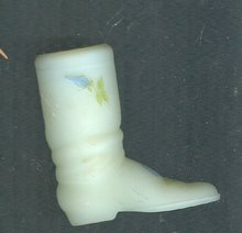 Vintage Fenton Custard Glass Boot