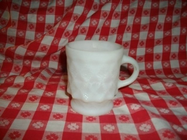 Vintage Fire King Quilted Mug