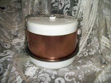 Vintage  Copper Metal Cake & Pie Carrier