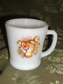Vintage Fire King Tiger Mug