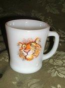 Vintage Fire King Tiger Mug
