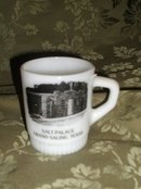 Vintage  Fire King Stackable Advertising Mug
