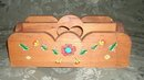 Vintage Handmade & HandPainted  Wooden Carrier