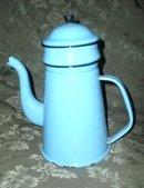 Antique Robin's Egg Blue Enamelware Coffee Pot  **LOOK**