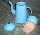 Antique Robin's Egg Blue Enamelware Coffee Pot  **LOOK**