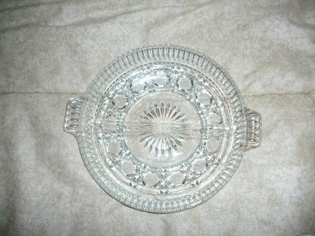 Vintage  EAPG Glass Divided Dish