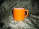 Vintage Federal  Bright Orange Mug
