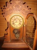 Antique Waterbury 8 Day Regulator Clock