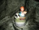 Vintage Porcelain Hummel Style  Musical Figurine