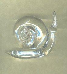 Art Glass Snail Paperweight
