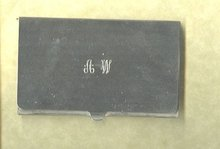 Towle Silversmiths Executive Card Holder
