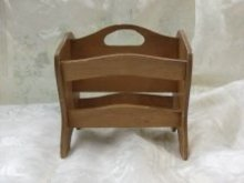 Vintage Small Wooden Magazine Holder