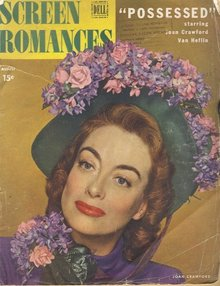 Joan Crawford Cover August 1947 Screen Romances Movie Magazine