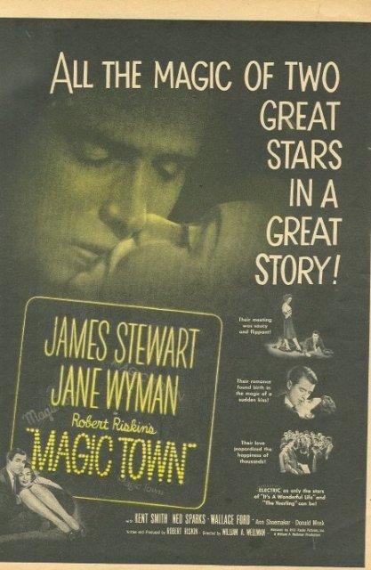 1947 Movie Ad James Stewart Jane Wyman in