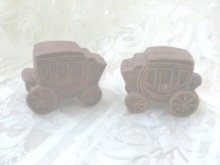 Vintage Stage Coach Salt & Pepper Shakers