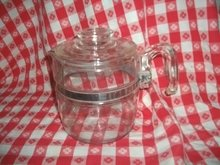 Vintage Pyrex Glass Percolator Coffee Pot  w/Lid