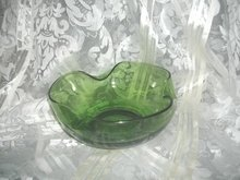 Vintage Free Form Green Glass Bowl
