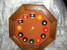 Billiards Game Room Wall Clock