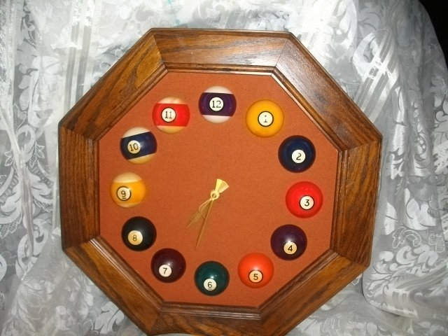 Billiards Game Room Wall Clock