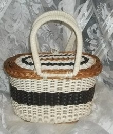 Vintage Woven Basket Purse / Handbag