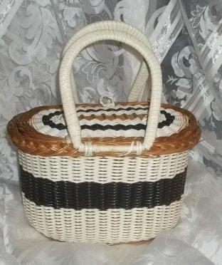 Vintage Woven Basket Purse / Handbag